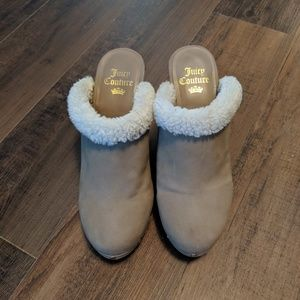 Juicy Couture Fur Lined Clogs Size 7.5